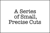 A Series of Small, Precise Cuts