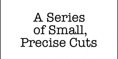 """A Series of Small, Precise Cuts"" is available now!"